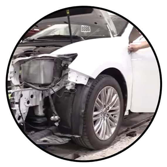 Collision Repair Circle Graphic
