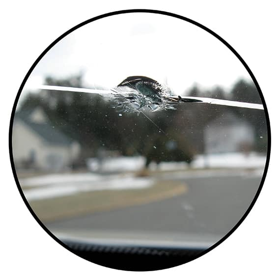 Windshield Repair Circle Graphic