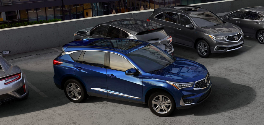 2019 Acura RDX Models in Parking Lot