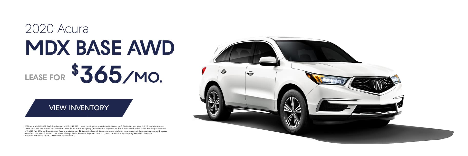 EAG_BAcura_Banner_2020 Acura MDX BASE AWD