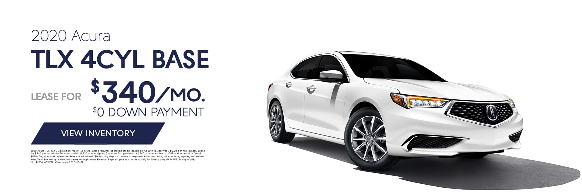 EAG_BAcura_Banner_2020 Acura TLX 4CYL BASE
