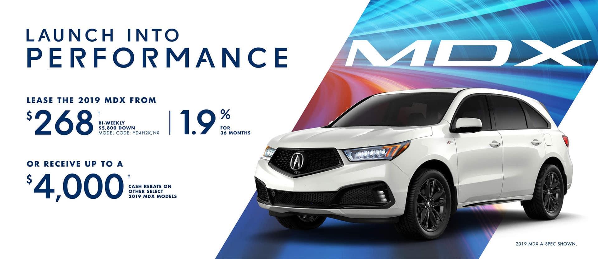 Acura MDX January 2019 Special