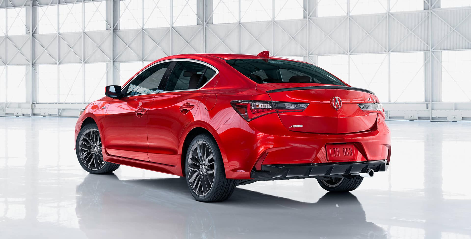 Red 2019 Acura ILX