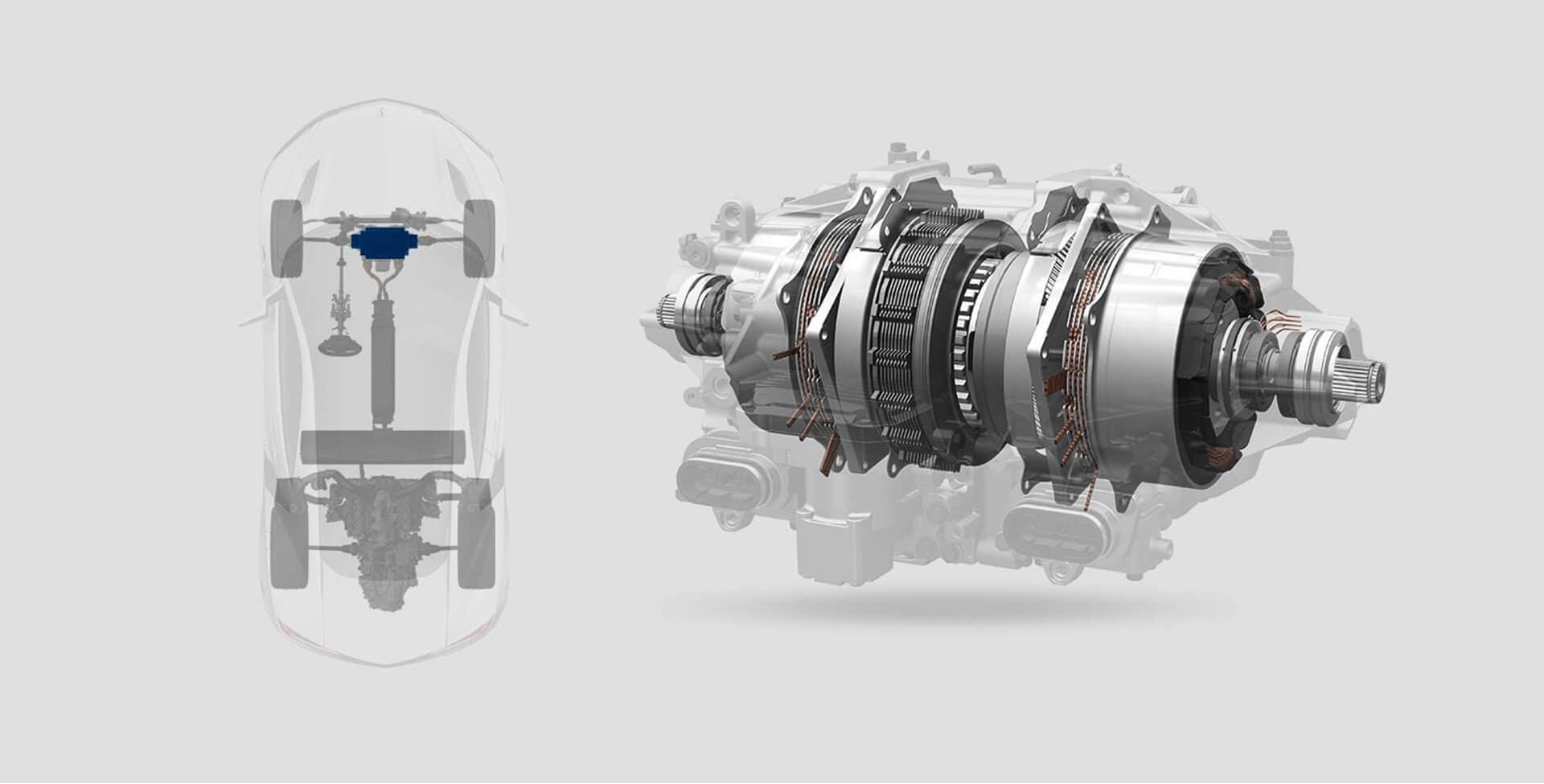 NSX twin motor unit illustration