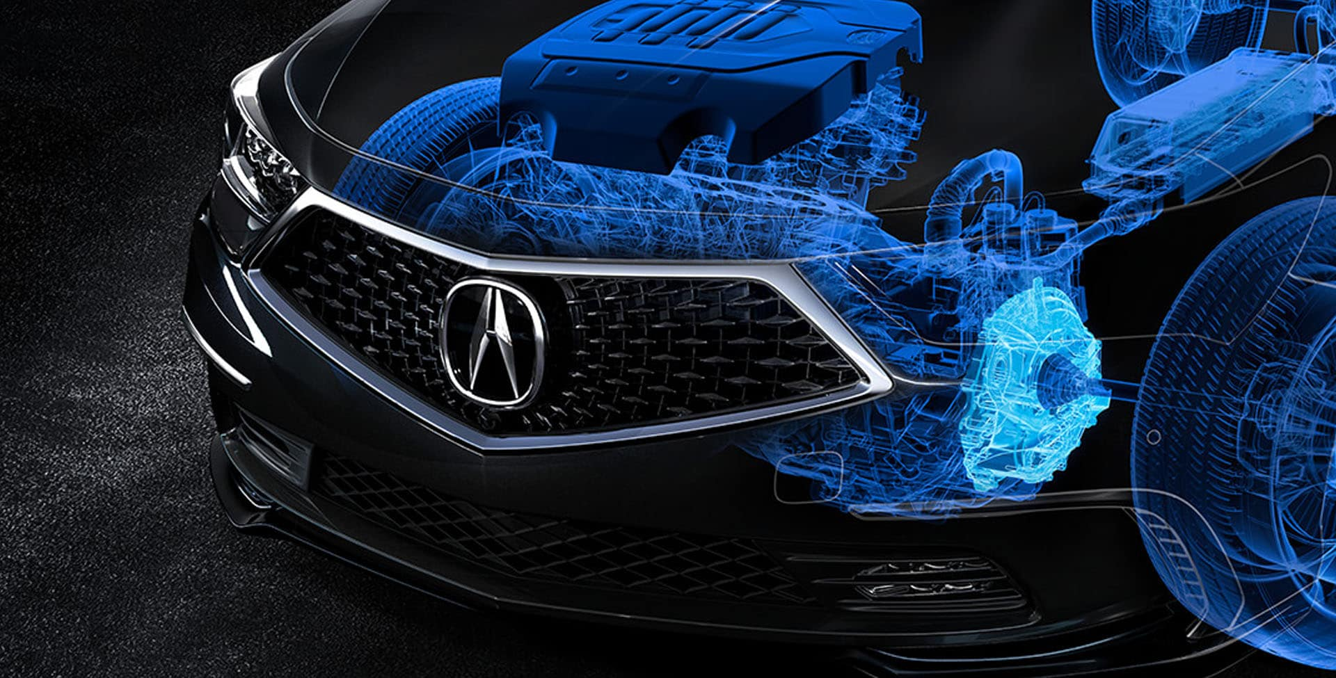X-ray view of Acura RLX