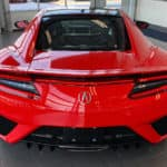 Back of red Acura NSX