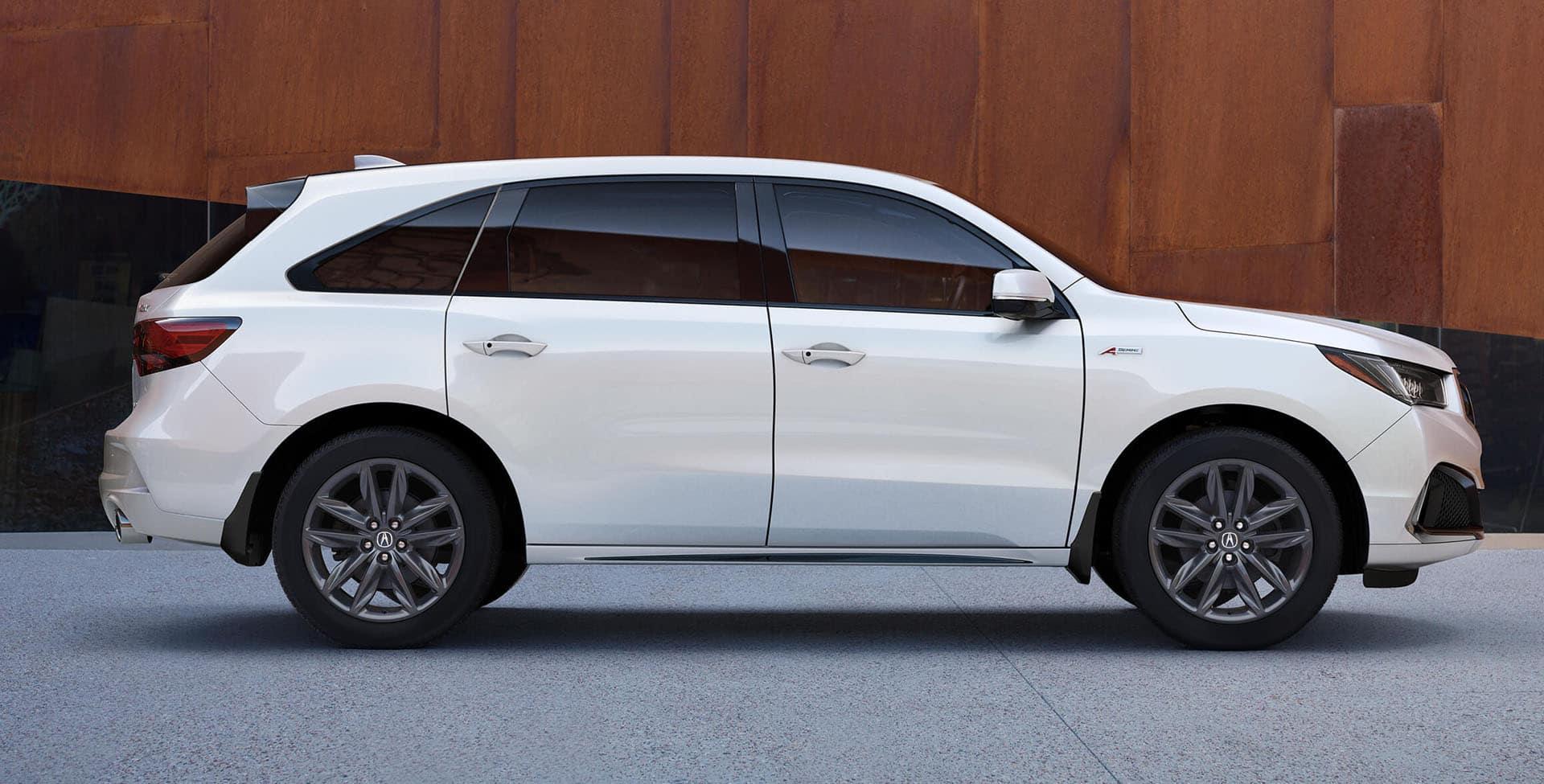 White Acura MDX A-spec