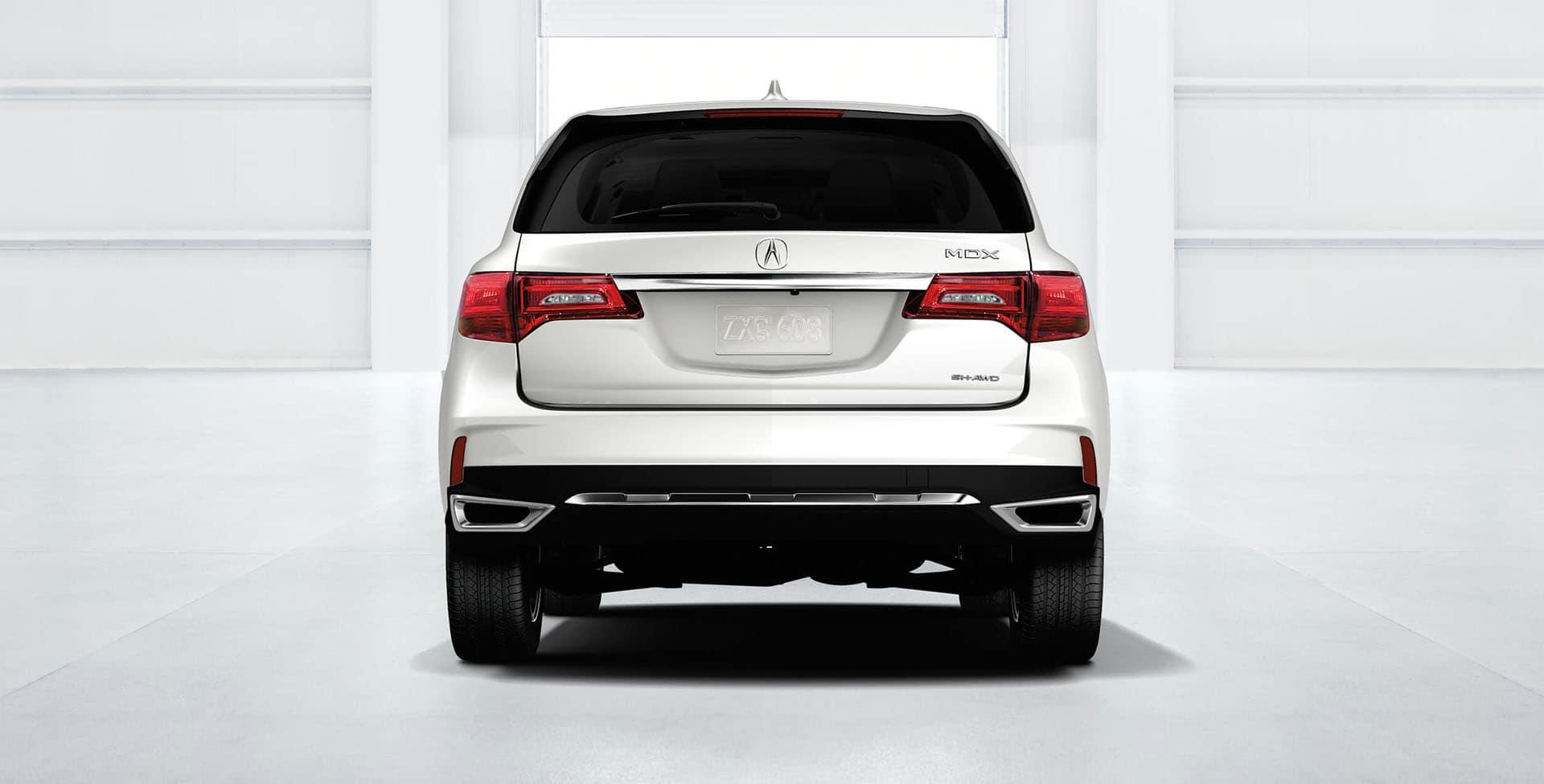 White Acura MDX rear