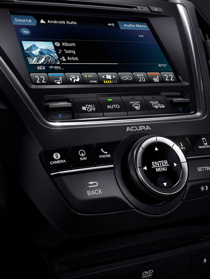 Acura MDX multi-use display