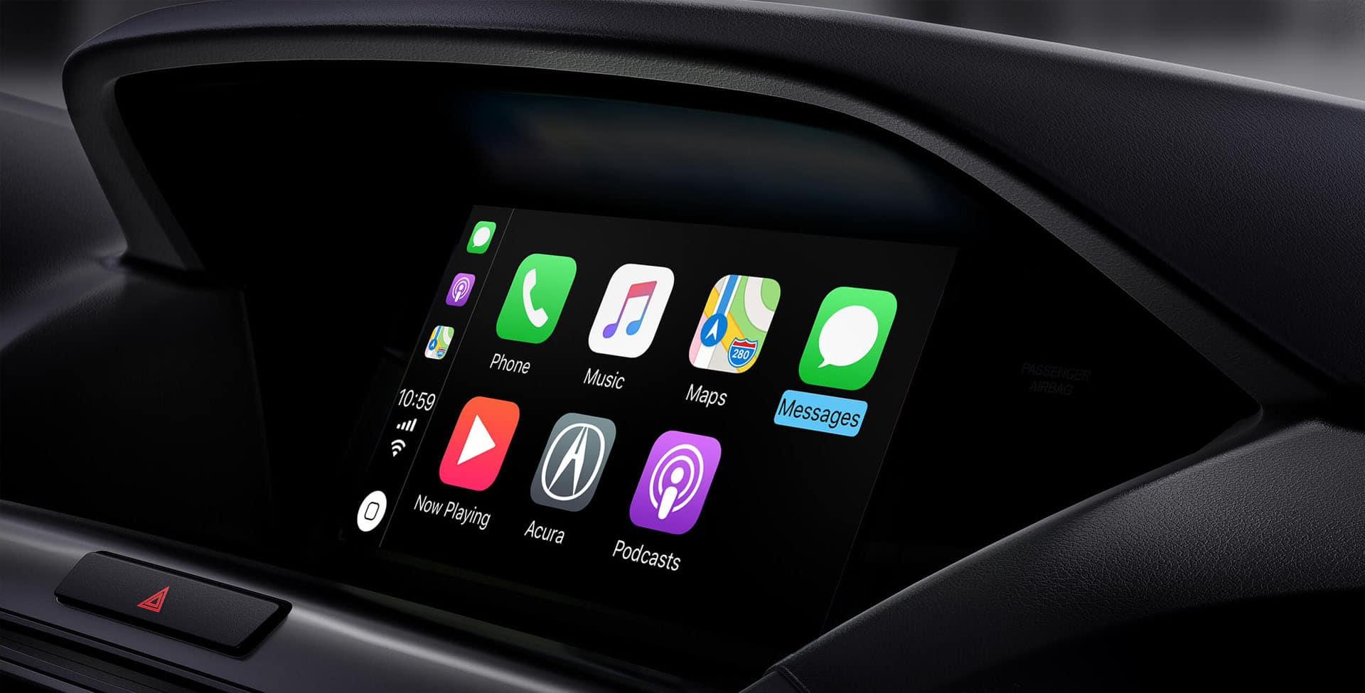 Acura MDX infotainment screen