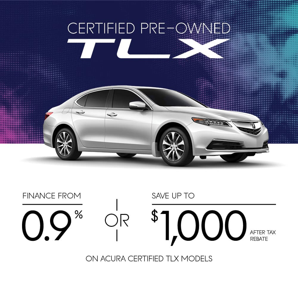 Acura Certified Pre-owned TLX promo mobile banner