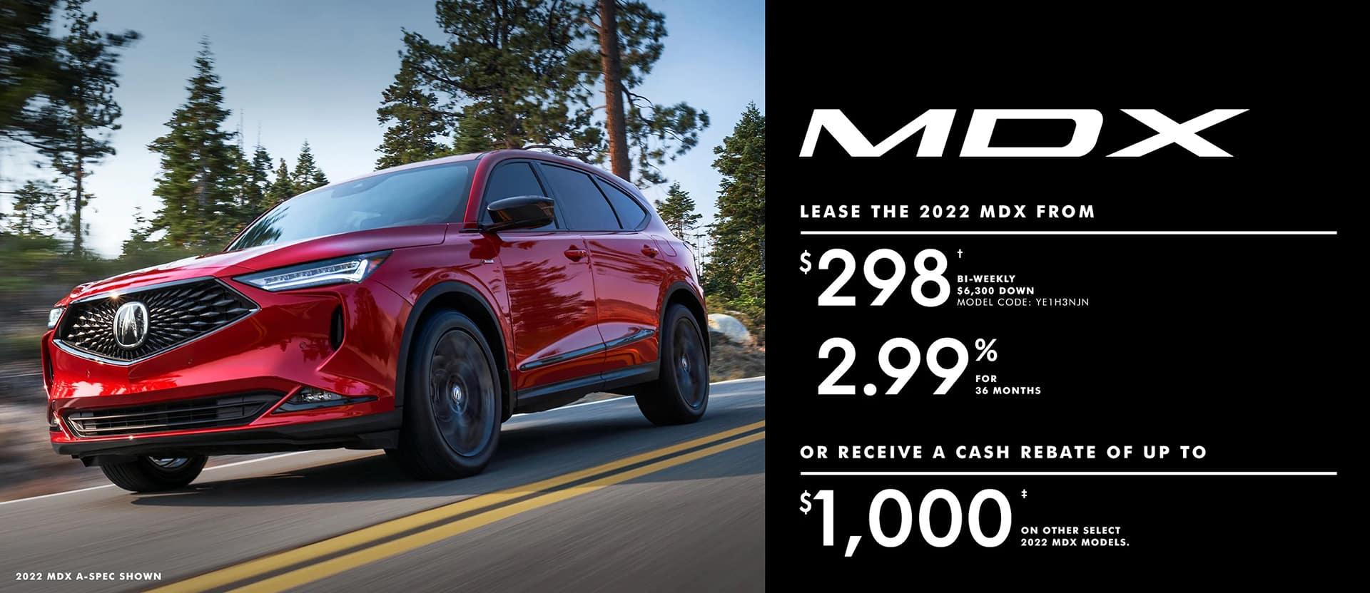 Acura MDX May offer desktop banner