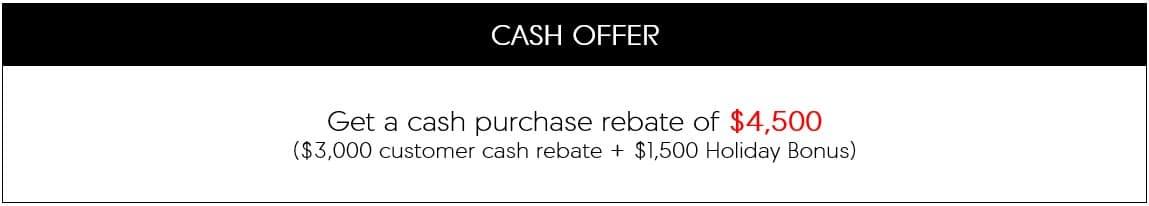 MDX loyalty cash offer