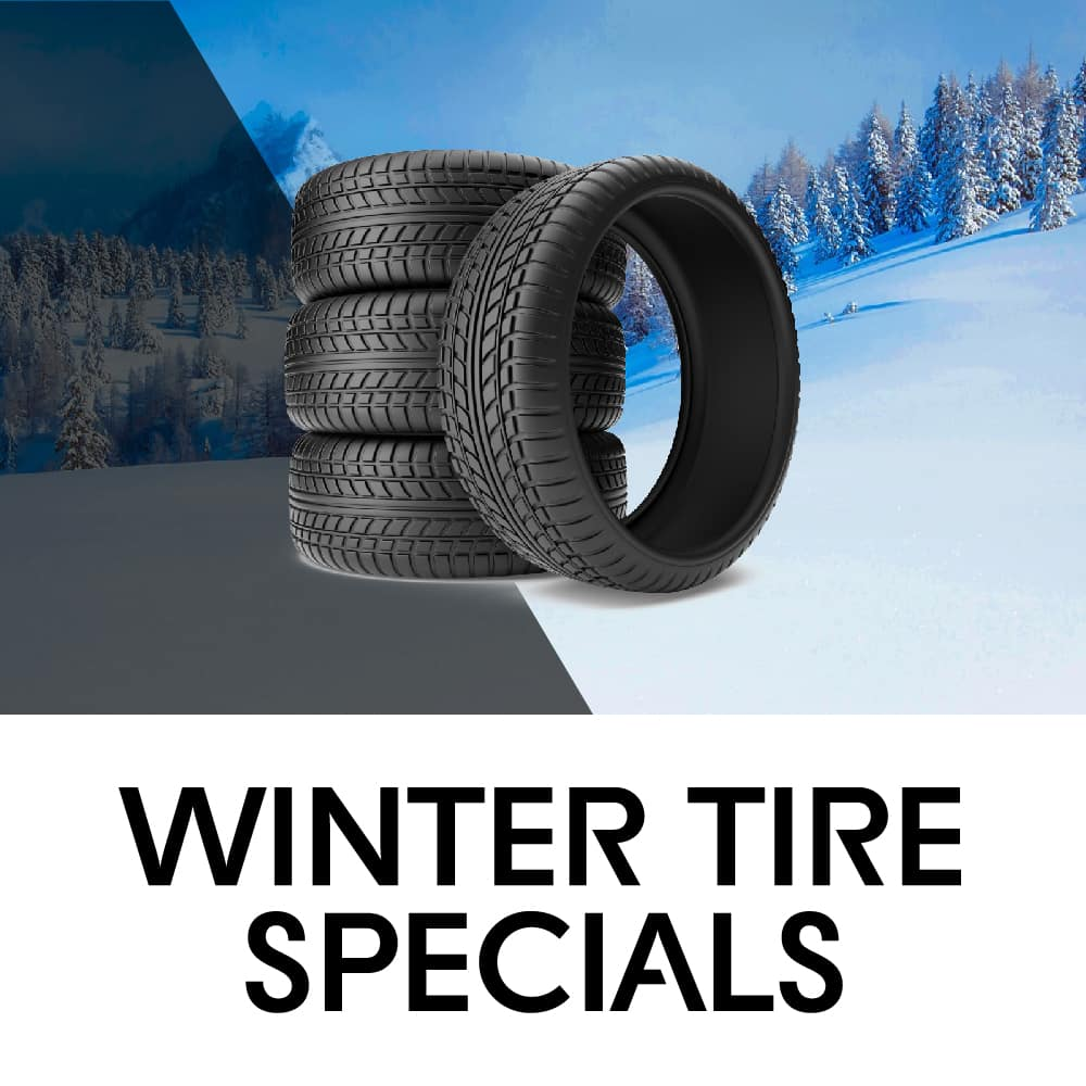 Mobile banner for winter tires