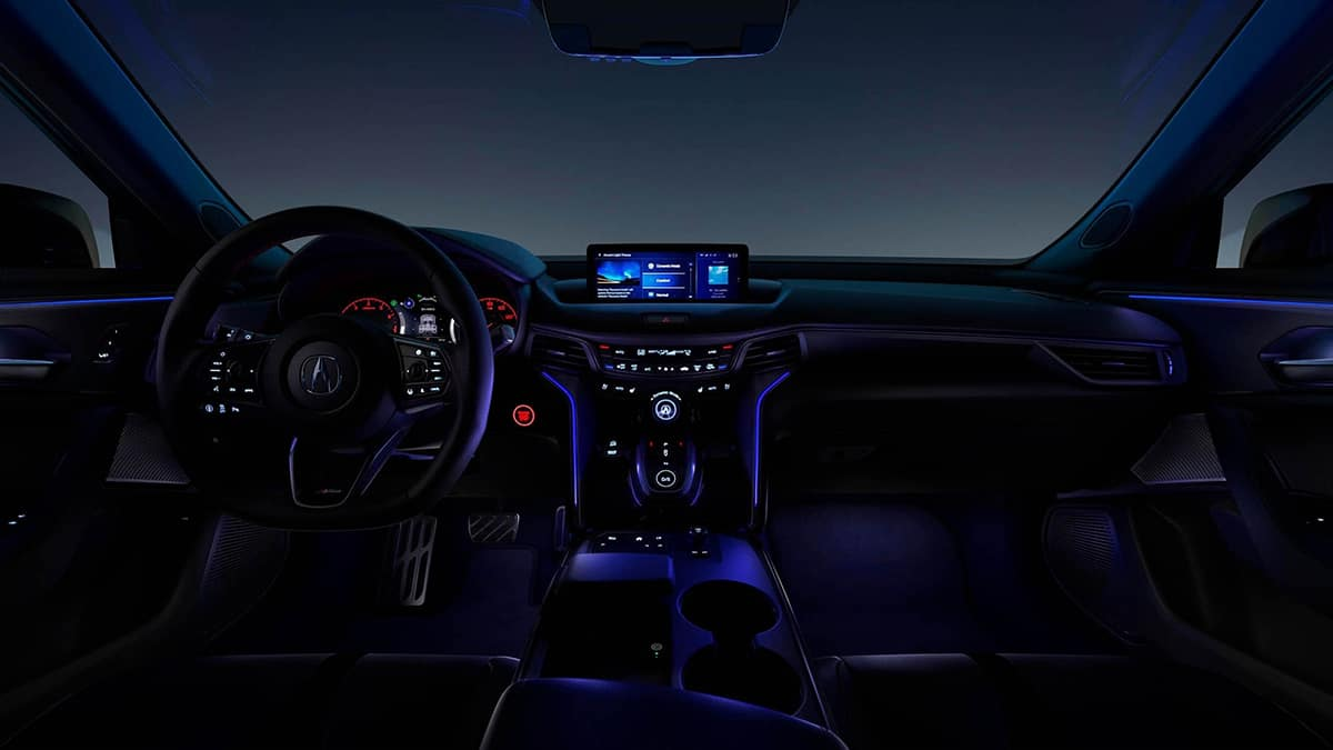 2021 TLX ambient lighting