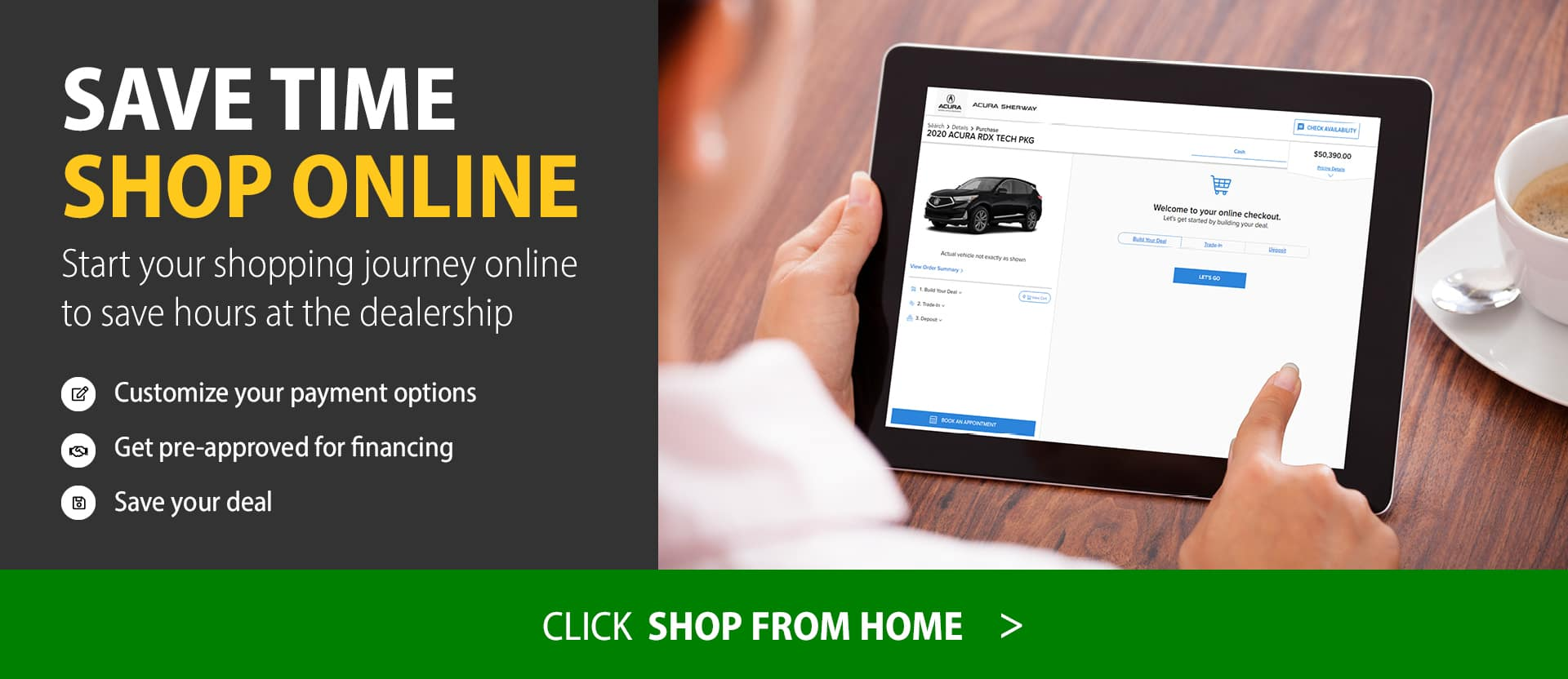 Shop Online desktop banner
