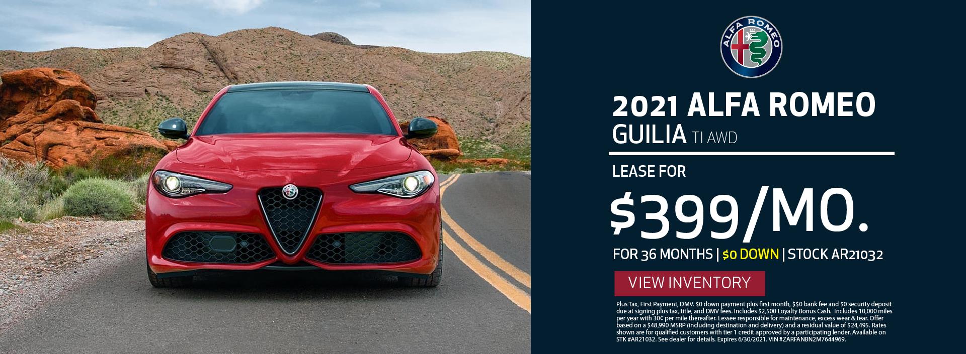 Manhattan Alfa Romeo – 2021 Guilia TI – June 2021