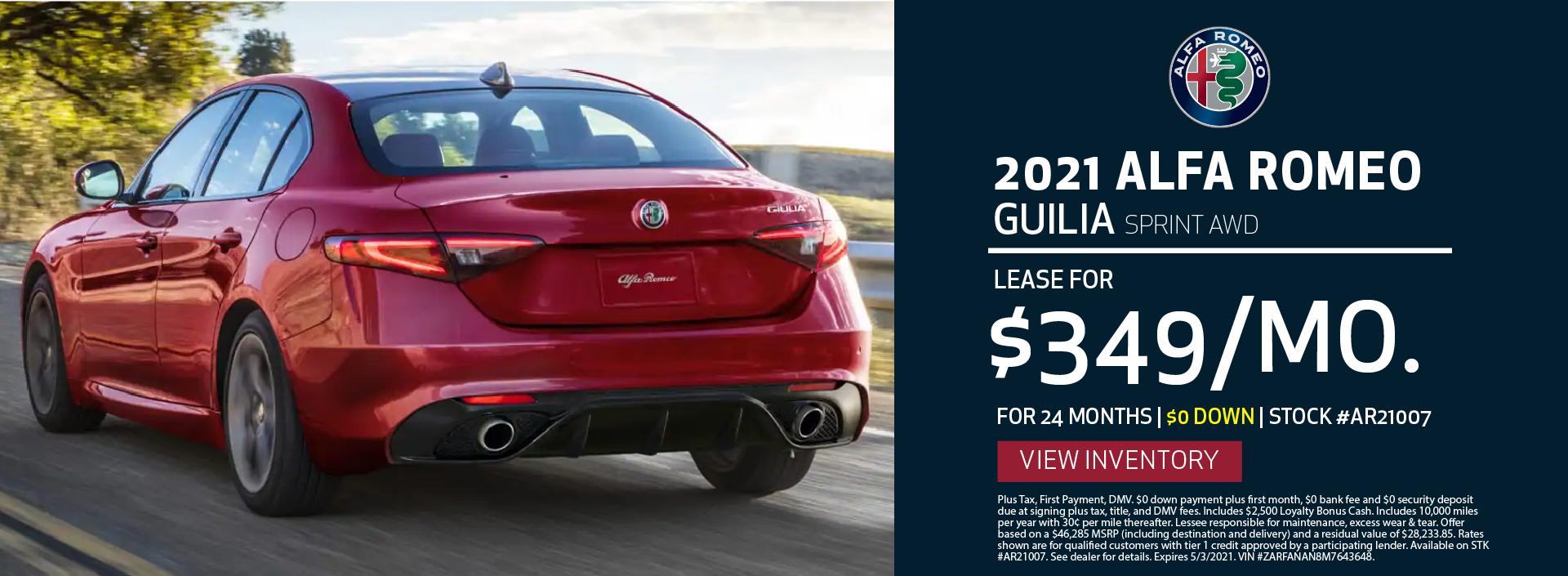 Manhattan Alfa Romeo – 2021 Guilia Sprint
