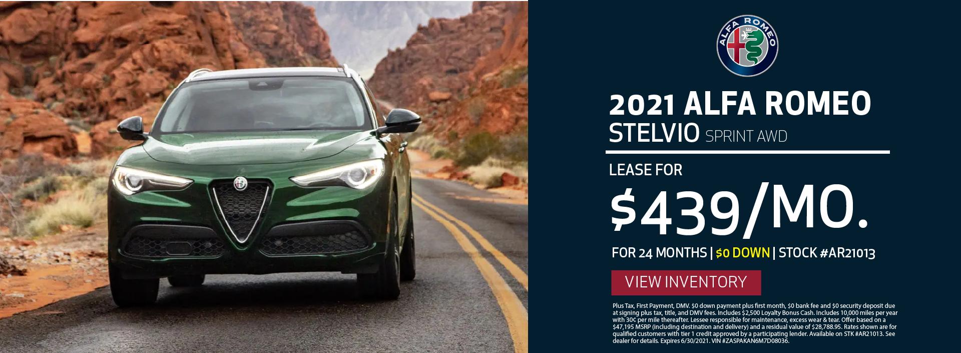 Manhattan Alfa Romeo – 2021 Stelvio Sprint – June 2021