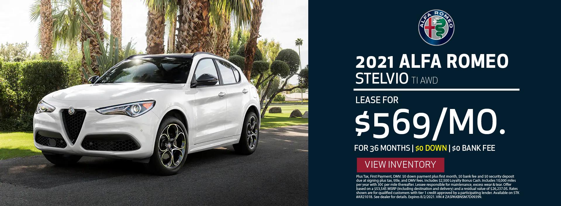 Manhattan Alfa Romeo – 2021 Stelvio TI – JuLY 2021