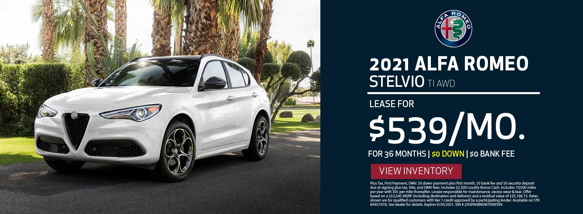 Manhattan Alfa Romeo – 2021 Stelvio TI – September 2021