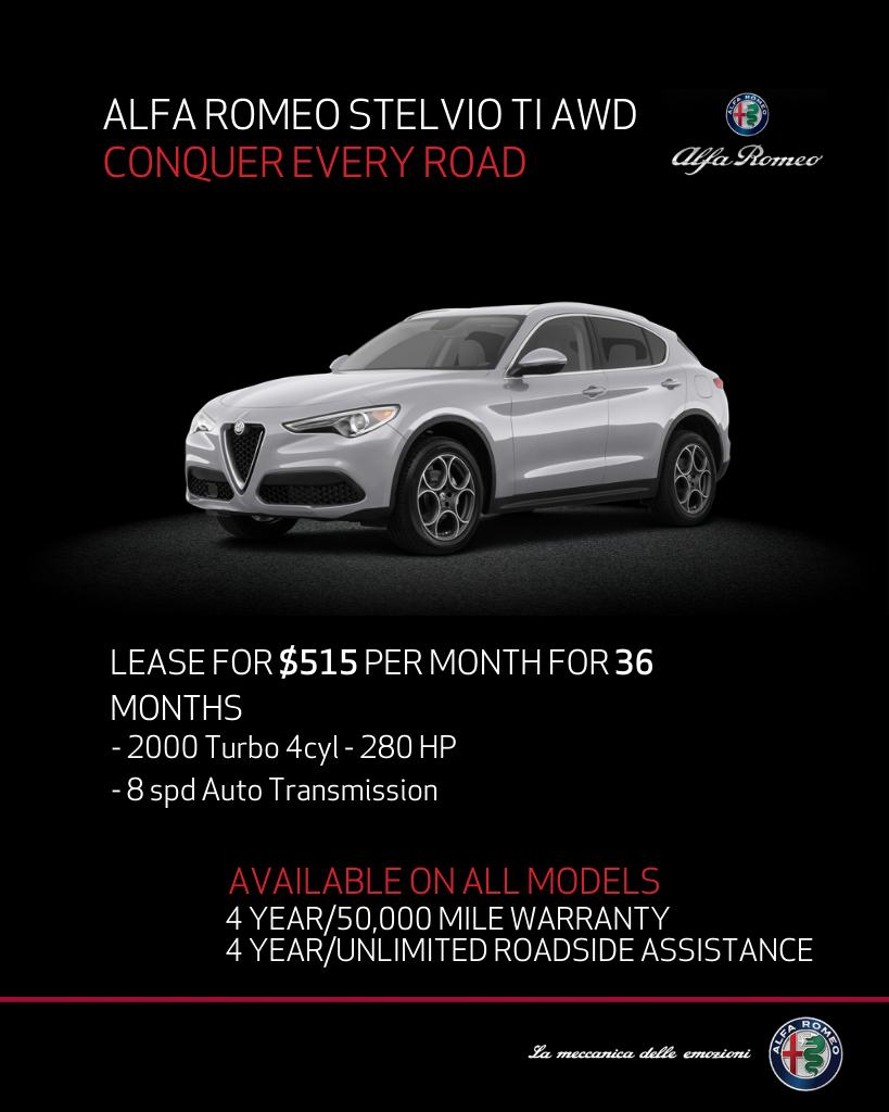 New 2020 Alfa Romeo Stelvio Ti With Navigation & AWD
