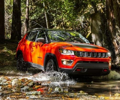 orange jeep compass