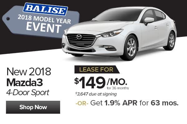 New 2018 Mazda3 4-Door Sport