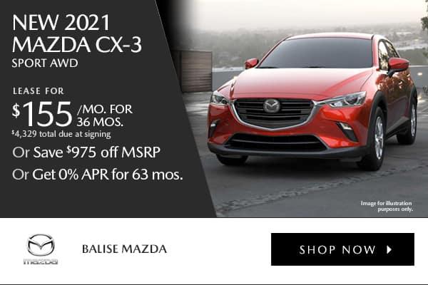 New 2021 Mazda CX-3 Sport AWD