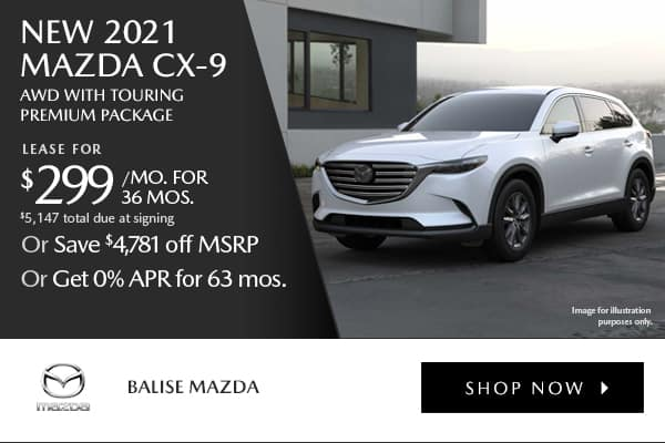 New 2021 Mazda CX-9 Touring AWD with Touring Premium Package