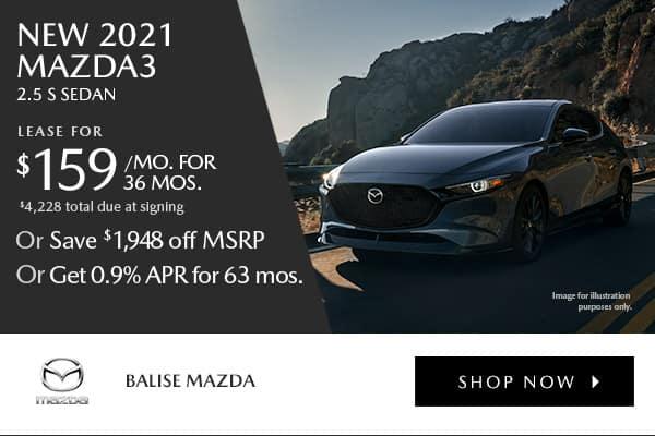 New 2021 Mazda3 2.5 S Sedan