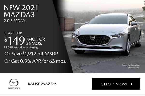 New 2021 Mazda3 2.0 S Sedan