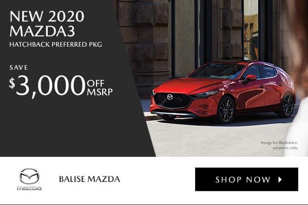 New 2020 Mazda3 Hatchback Preferred Pkg