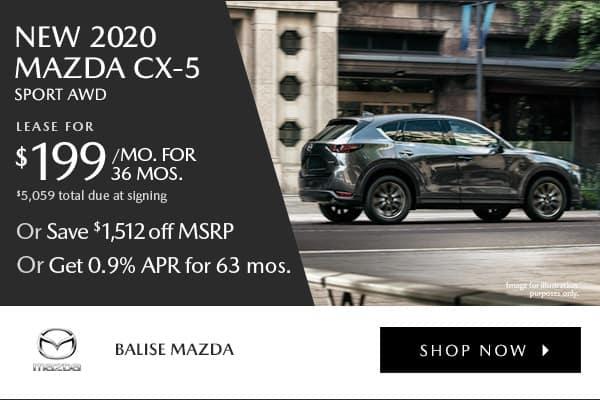 New 2020 Mazda CX-5 Sport AWD