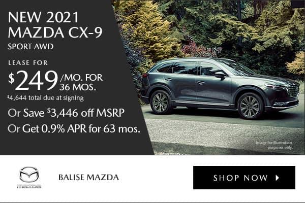 New 2021 Mazda CX-9 Sport AWD