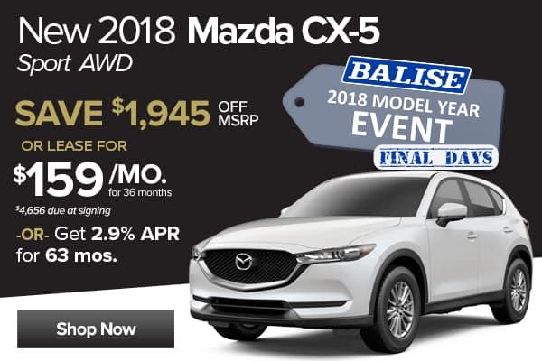 New 2018 Mazda CX-5 Sport AWD