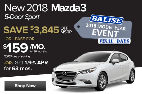 New 2018 Mazda3 5-Door Sport