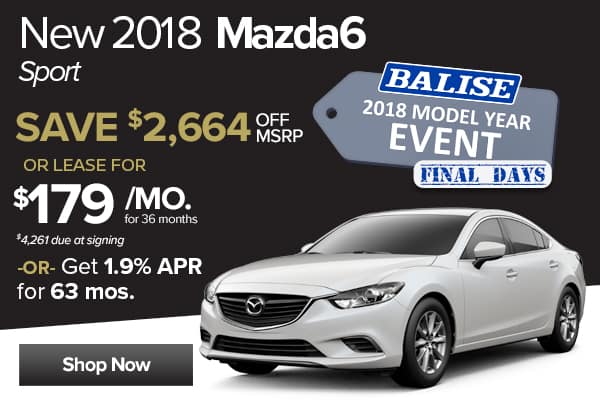 New 2018 Mazda6 Sport