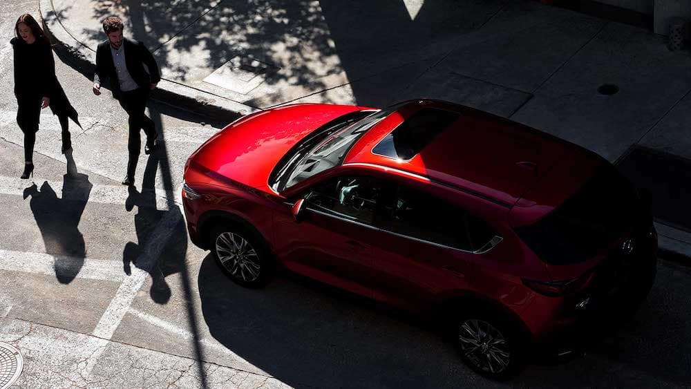 2019 Mazda CX-5 Grand Touring Reserve side profile in city