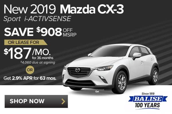 New 2019 Mazda CX-3 Sport i-ACTIVSENSE