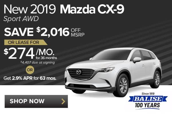 New 2019 Mazda CX-9 Sport AWD