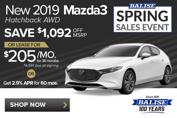 New 2019 Mazda3 Hatchback AWD