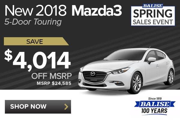 New 2018 Mazda3 5-Door Touring