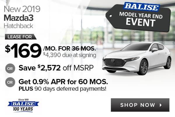 New 2019 Mazda3 Hatchback