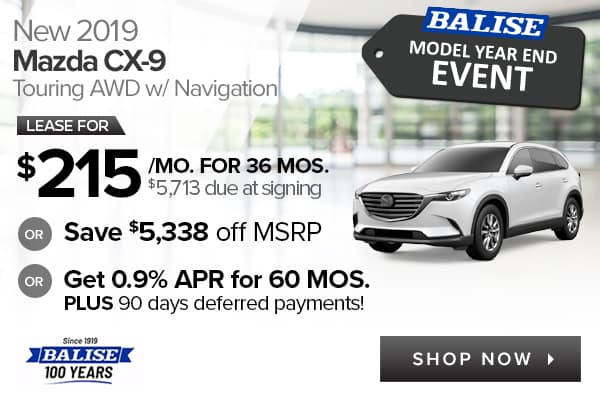 New 2019 Mazda CX-9 Touring AWD with Navigation
