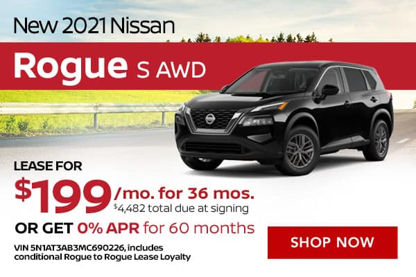 New 2021 Nissan Rogue S AWD