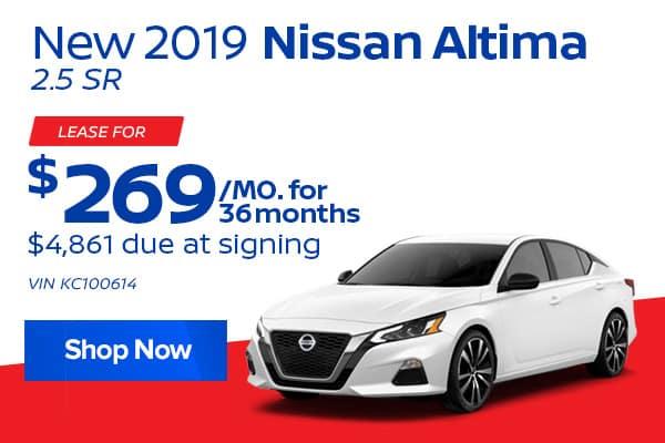New 2019 Nissan Altima 2.5 SR