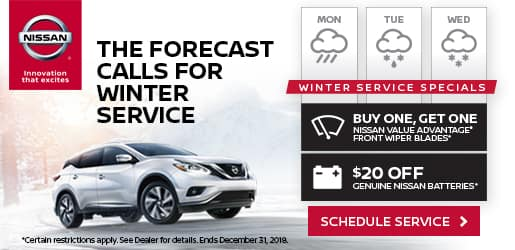 Winter Weather Service Specials at Balise Nissan