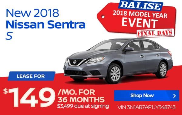 New 2018 Nissan Sentra S