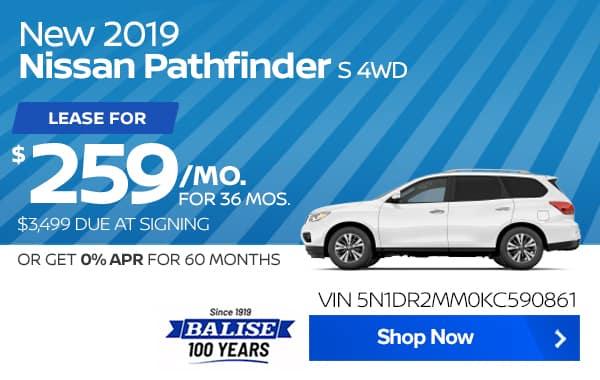 New 2019 Nissan Pathfinder S 4WD